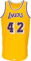 Basketball Collectibles:Uniforms, Circa 1983 James Worthy Game Worn Los Angeles Lakers Jersey. ...
