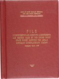 "Explorers:Space Exploration, Soviet Original Bound Book: ""File on Engineering and Scientific Achievements and Records Made by the Second Soviet Space Rocke..."