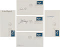 """Autographs:Celebrities, Mercury Seven Astronauts: Five Individually-Signed """"ProjectMercury"""" First Day Covers. ..."""