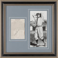Baseball Collectibles:Others, Circa 1930's Walter Johnson Signed Display....