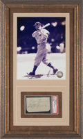 Autographs:Others, 1930's Jimmie Foxx & Lefty Grove Signed Cut Signatures Display,PSA/DNA Authentic.. ...