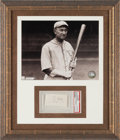 Baseball Collectibles:Others, Circa 1950 TY Cobb Signed Cut Signature, PSA/DNA Authentic....