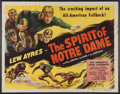 Football Collectibles:Others, 1931 Spirit of Notre Dame Movie Poster....