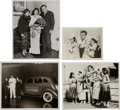 Baseball Collectibles:Photos, 1930's Babe Ruth Original Photographs Lot of 4....
