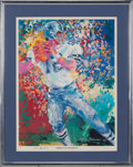 """Football Collectibles:Others, 1982 Roger Staubach """"America's Quarterback"""" Multi Signed LeRoy Neiman Print. ..."""