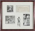 Baseball Collectibles:Others, 1917 Honus Wagner Signed Check Display.. ...