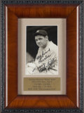 Baseball Collectibles:Photos, 1941 Babe Ruth Signed Photograph....