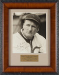 Baseball Collectibles:Photos, 1933-35 Walter Johnson Signed Photograph....
