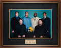 Football Collectibles:Photos, 2002 Green Bay Packers Oversized Captains Photograph Presented to Brett Favre....
