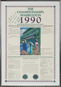 Miscellaneous Collectibles:General, 1990 Martina Navratilova Signed Wimbledon Promotional Poster....
