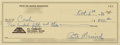 Basketball Collectibles:Others, 1986 Pete Maravich Twice Signed Check....