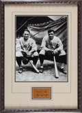 Baseball Collectibles:Others, Circa 1930 Babe Ruth & Lou Gehrig Signed Cut Signature Display....