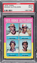 Baseball Cards:Singles (1970-Now), 1975 Topps Mini Jim Rice - 1975 Rookie Outfielders #616 PSA Mint9....