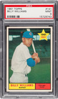 Baseball Cards:Singles (1960-1969), 1961 Topps Billy Williams #141 PSA Mint 9 - Only Two Higher....