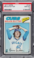 Baseball Cards:Singles (1970-Now), 1977 Topps Bruce Sutter #144 PSA Gem Mint 10....