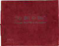"""1926 Alabama Crimson Tide """"The Will to Win"""" Rose Bowl Championship Pictorial Booklet"""