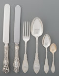 Silver Flatware, American, A Seventy Eight-Piece Assorted Group of American Flatware andWhiting Mfg. Co. Arabesque Pattern, New York, desi...(Total: 78 Items)