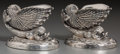 Silver Holloware, Continental, A Pair of Continental Silver-Plated Figural Oceanic Salts, late19th-early 20th century. 2-1/2 x 3-1/2 x 2-3/8 inches (6.4 x...(Total: 2 Items)