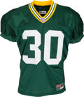 Football Collectibles:Uniforms, 2000 Ahman Green Practice Worn, Signed Green Bay Packers Jersey....