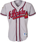 Baseball Collectibles:Uniforms, 1996 Andruw Jones Game Worn Atlanta Braves World Series Jersey - From Series He Became Youngest Player to Homer in a World Ser...