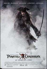 """Pirates of the Caribbean: At World's End (Buena Vista, 2007). Dual-Sided Printed Mini Poster (20"""" X 29"""") Advan..."""