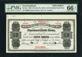 Canadian Currency: , St. John's, NF- Newfoundland Government Cash Note 50¢ 1903 Ch. #NF-3cs Specimen. . ...