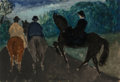 Works on Paper, Milton Avery (American, 1885-1965). Bridle Path - Central Park West at 67th Street, circa 1930. Watercolor on paper...