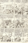 Original Comic Art:Panel Pages, Jack Kirby and Chic Stone Fantastic Four #34 Story Page 19Original Art (Marvel, 1965)....