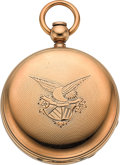 Timepieces:Pocket (pre 1900) , Waltham Rare Civil War Period Gold Cased Model 57 P.S. Bartlett No.37547, circa 1861. ...