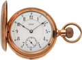 Timepieces:Pocket (pre 1900) , Waltham Very Fine Gold Five Minute Repeater, circa 1888. ...