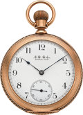 Timepieces:Pocket (pre 1900) , Waltham Fine 14k Gold 21 Jewel Model 1888, circa 1895. ...