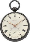 Timepieces:Pocket (pre 1900) , Reid , Ball Alley Lombard St. London Pocket Chronometer With LeverConversion, circa 1820's. ...
