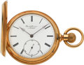 Timepieces:Pocket (pre 1900) , Borel & Courvoisier Neuchatel Fine 18k Gold Hunters Case, circa 1890's. ...