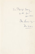 Autographs:U.S. Presidents, John F. Kennedy Inscribed Copy of Profiles in Courage. ...