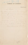 Autographs:Authors, Paul Laurence Dunbar Autograph Manuscript Signed....