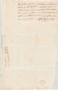 Autographs:Statesmen, John Morton Docket Signed on Verso of a Document Issued Under theReign of George III. ...