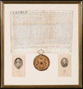 Miscellaneous, George III Land Indentures (2) Awarding Land to British Officers inNew York State. ... (Total: 2 Items)