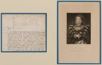 Elizabeth I, Queen of England Partial Document Signed