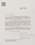 Autographs, Madame Chiang Kai-shek Typed Letter Signed ...