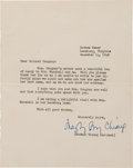 Autographs, Madame Chiang Kai-shek Typed Letter Signed....