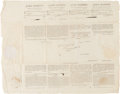 Autographs:U.S. Presidents, James Madison and James Monroe Four Language Ship's PapersSigned....