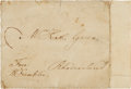 Autographs:Statesmen, Benjamin Franklin Franking Signature on a Cover Addressed in HisHand....