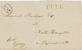 Autographs:Statesmen, Elbridge Gerry Franking Signature on a Cover Addressed in HisHand....