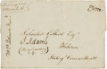 Autographs:U.S. Presidents, John Adams Franking Signature. ...