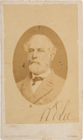 Autographs:Military Figures, Robert E. Lee Carte de Visite Signed by Both Lee and HisWife. ...