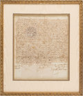 Autographs, King Ferdinand II and Queen Isabella I Document Signed. ... (Total: 2 Items)