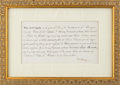 Autographs, Isabella II, Queen of Spain, Printed Letter Signed. ...