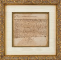 "Autographs, Philip II, King of Spain, Letter Signed ""Yo el Rey"". ..."