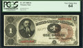 Fr. 347 $1 1890 Treasury Note PCGS Very Choice New 64