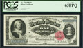 Large Size:Silver Certificates, Fr. 221 $1 1886 Silver Certificate PCGS Gem New 65PPQ.. ...